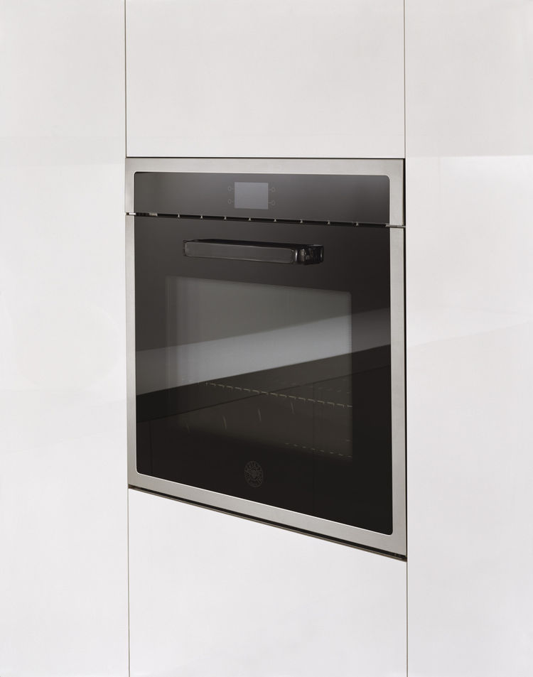 The Design Series oven, created in collaboration with Italian designer Stefano Giovannoni, features a sleek facade and a glass handle that's meant to disappear into the design.
