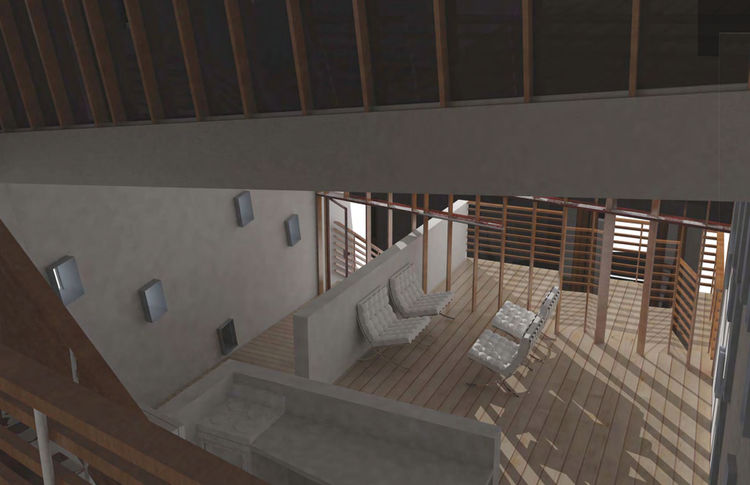 The InOut House (interior) by Scott Burroughs of Tulane University