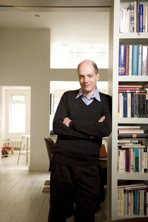 Here's a photo of Alain de Botton taken by Vincent Starr.