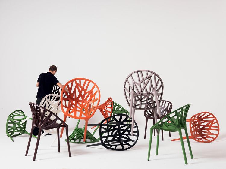 Vegetal Chair, Vitra, 2008. Chair, polyamide. 606 × 552 × 813 mm/23.8 × 21.7 × 32 inches;  Vitra, Switzerland