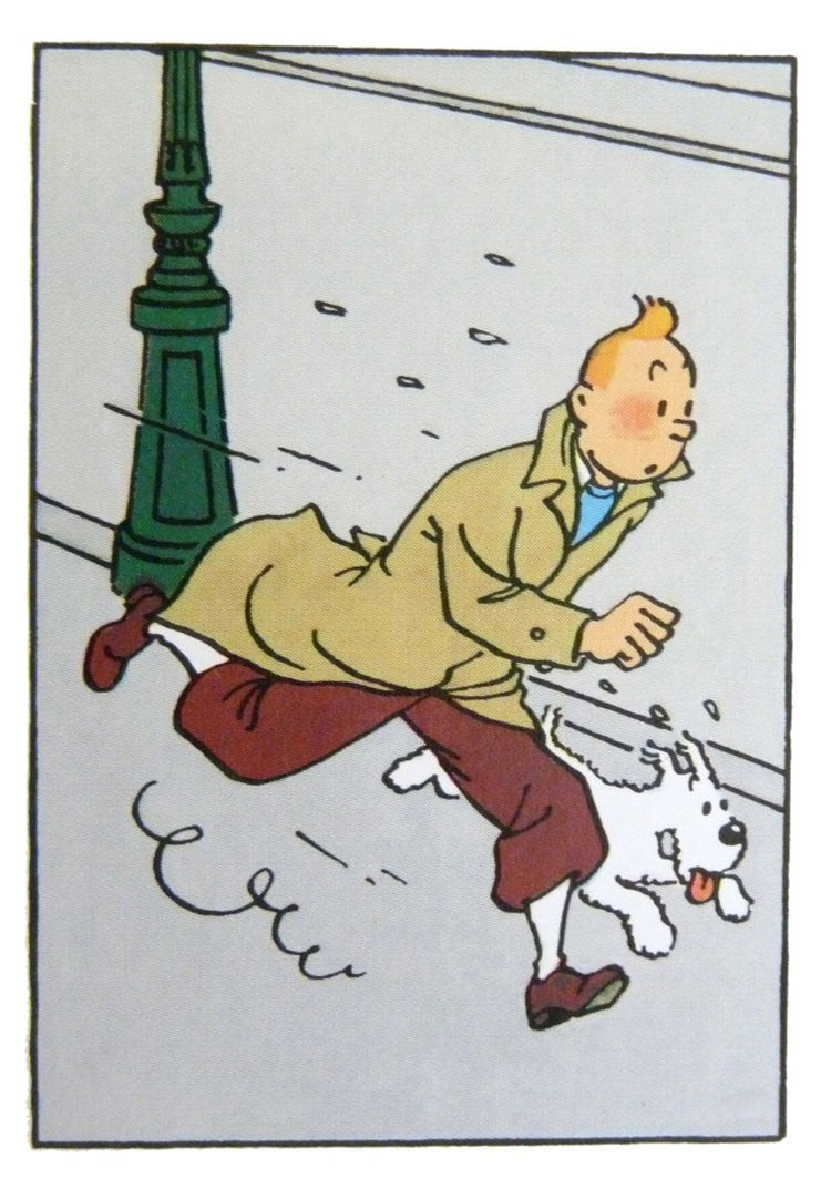 "The Adventures of Tintin created by Hergé. ""These were some of our favorite books when we were kids, and we still enjoy reading about Tintin's adventures."" Available at <a href=""http://brookfarmgeneralstore.bigcartel.com/product/the-adventures-of-tintin"">"