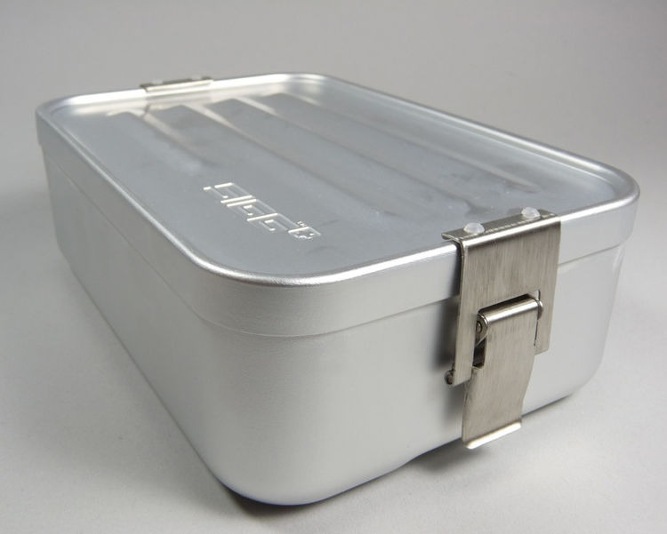 """Lunch Box by Sigg. """"These classic Swiss lunch boxes are super light, leakproof and stackable.We use them for leftovers we know we will want to bring for lunch the next day."""" Available at <a href=""""http://brookfarmgeneralstore.bigcartel.com/product/sigg-mi"""