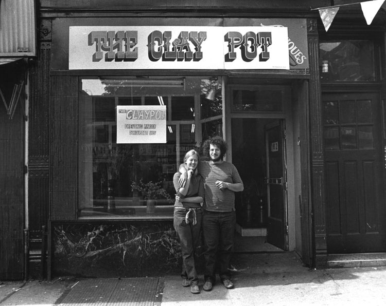 On Seventh Avenue in Park Slope, brownstoners like Robert and Sally Silberberg opened small stores like the Clay Pot. Originally a counter-cultural ceramics studio, the store transformed in later decades into a high-end designer jewelry and ceramics store
