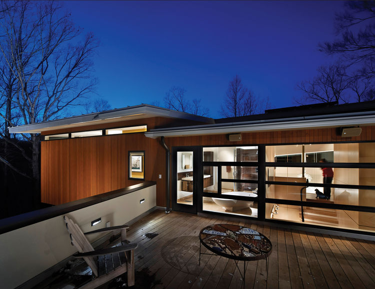 """Designed by <a href=""""http://www.ellencassillyarchitect.com/"""">Ellen Casilly </a>, Frank Konhaus and Anna Wirththis, the Cassilhaus is a multilevel residence, art gallery, and site for artists-in-residence."""