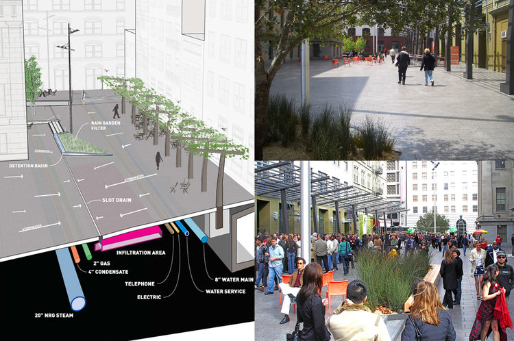 """<a href=""""http://www.cmgsite.com/projects/urban-spaces/mint-plaza/"""">Mint Plaza in San Francsico, California,</a> and other <a href=""""http://www.cmgsite.com/projects/urban-spaces/"""">urban spaces</a> designed by <a href=""""http://www.cmgsite.com/"""">CMG Landscape"""