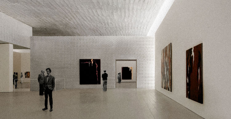 This rendering shows a gallery space of Allied Works Architecture Clyfford Still Museum set to open in Denver in 2011.