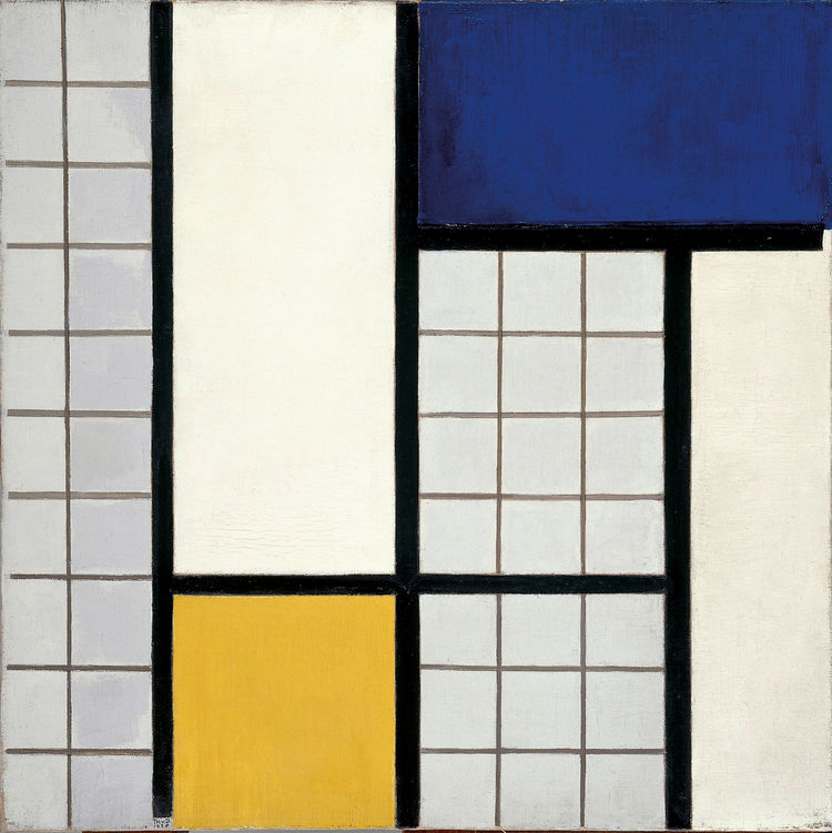 <i>Composition in Half-Tones</i> (1928) by Theo van Doesburg. On display at the Tate Modern in London through May 16, 2010, as part of the <i>Van Doesburg and the International Avant-Garde: Constructing a New World</i> exhibit. On loan from the Museum of