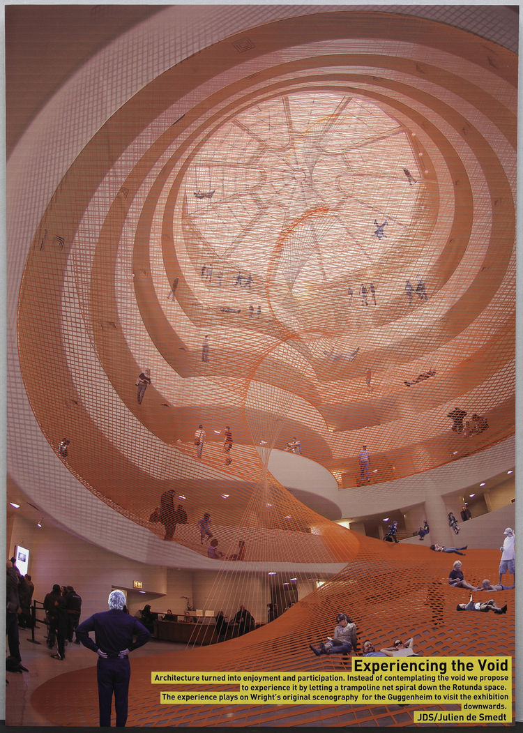 "<i>Experiencing the Void</i> (2009) by <a href="""">Julien De Smedt Architects</a>. On display at the Guggenheim Museum February 12 through April 28, 2010, as part of the exhibit <a href=""http://www.dwell.com/events/contemplating-the-void-interventions-in-t"