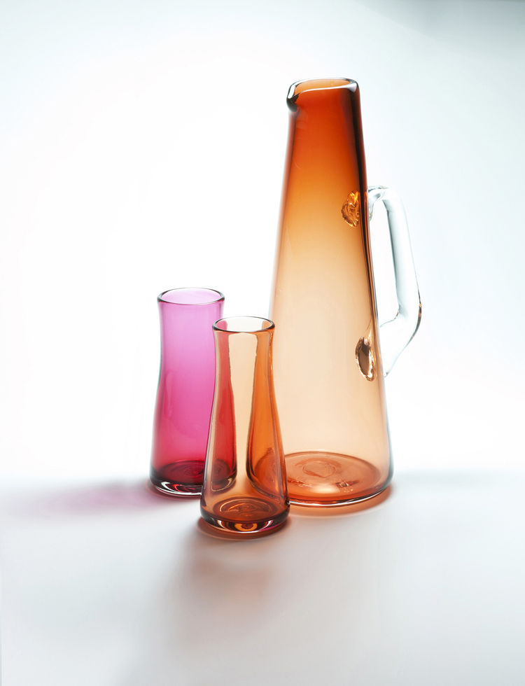 Coolade pitcher and glasses by Andi Kovel for Esque