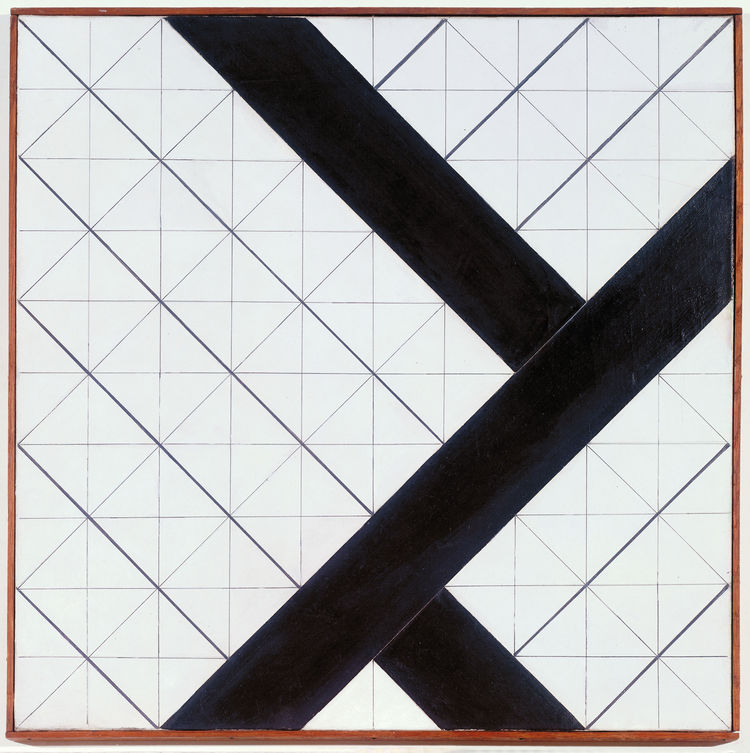 <i>Counter-Composition VI</i> (1925) by Theo van Doesburg. On display at the Tate Modern in London through May 16, 2010, as part of the <i>Van Doesburg and the International Avant-Garde: Constructing a New World</i> exhibit. On loan from the Museum of Mod