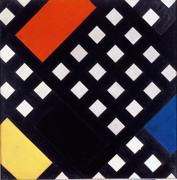 <i>Counter-Composition XV</i> (1925) by Theo van Doesburg. On display at the Tate Modern in London through May 16, 2010, as part of the <i>Van Doesburg and the International Avant-Garde: Constructing a New World</i> exhibit. On loan from the Museum of Mod