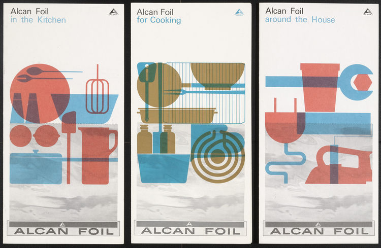 I love these brochures for Alcan Foil from the early 60s. There were designed by German Rolf Harder.