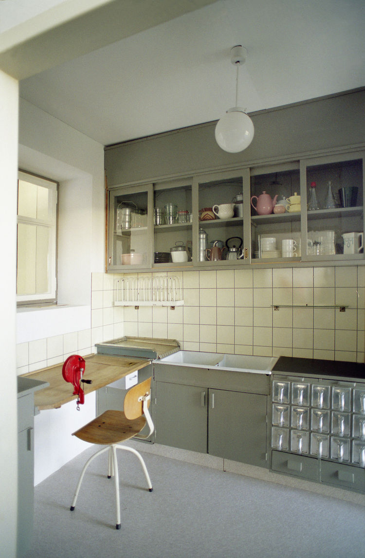 One of the MoMA's recent acquisitions is the Schütte-Lihotzky-designed Frankfurt Kitchen from the Ginnheim-Höhenblick Housing Estate, Frankfurt am Main, Germany, a gift from Joan R. Brewster in memory of her husband George W.W. Brewster.