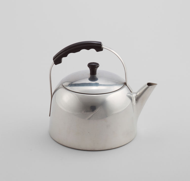 Also on view as part of <i>Counter Space</i> are iconic kitchen products of the 20th century.n In the early 1930s, American designer Lurelle Guild created the Wear-Ever Tea Kettle (model 1403) for the Aluminum Cooking Utensil Company, which featured an al