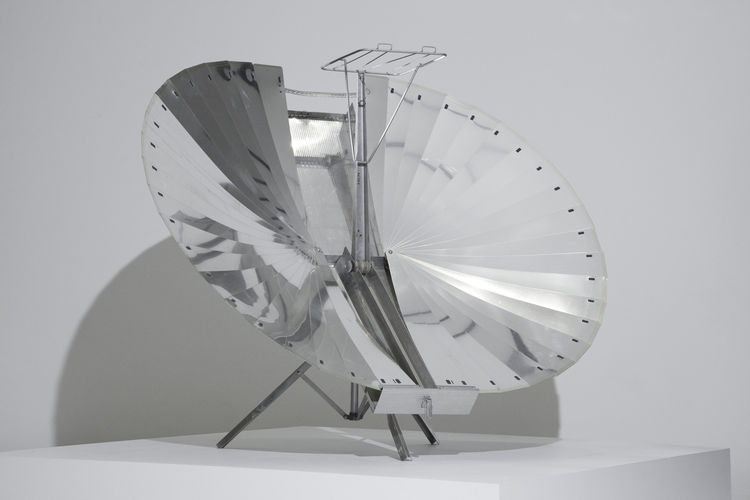 With much of the kitchen design in Counter Space springing out of Europe and America, this Yemeni solar cooker from around 1970 offers a glimpse of other forms of cooking. Adnan Tarcici is the designer.