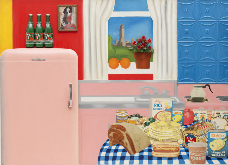 Tom Wesselmann's painting Still Life #30, April 1963 gives us a flat, and flattened take on American consumption and how the kitchen is as much an engine for our appetites as our closets and garages.