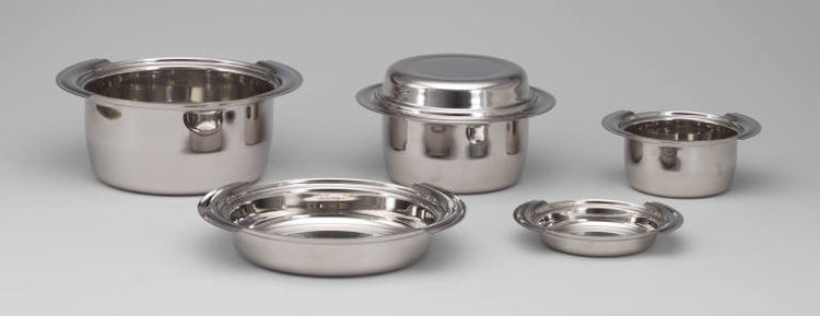 Roberto Sambonet's Center Line set of stainless steel cookware is from 1964.