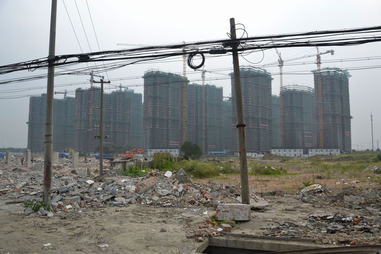 """""""The rubble, scaffolding, and cranes increased in frequency and scale as I got closer to Shanghai,"""" Shahid reports."""