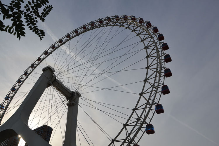 "The first thing she noticed upon reaching Tianjin was this Ferris wheel. ""I biked in and immediately thought, 'I have to ride that,'"" she says. Shahid also laughed at its shape, which so closely resembles that of her bike wheels."