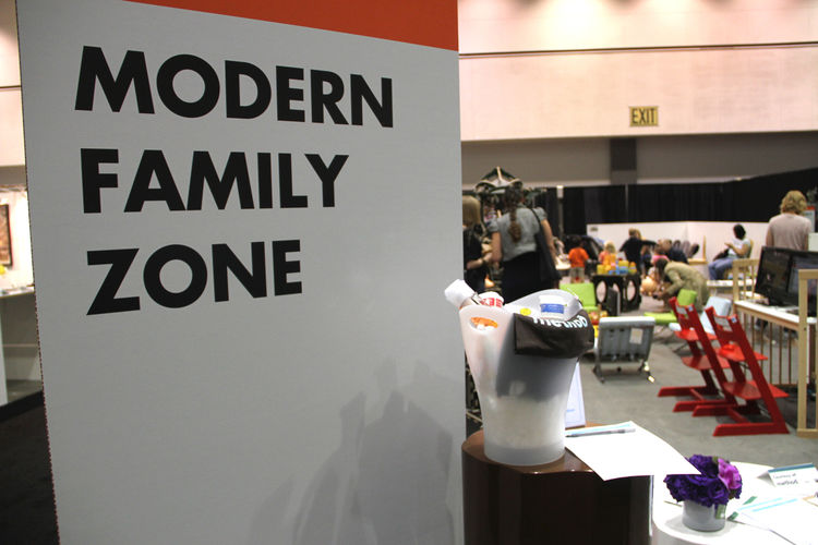 "The entrance to Modern Family Zone with basket of biodegradable products by <a href=""http://www.methodhome.com"">Method</a>."