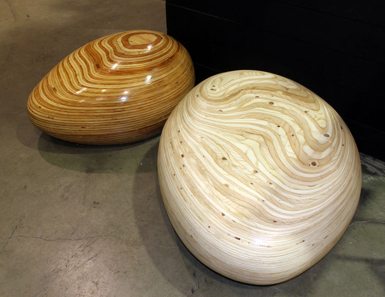 """Having worked for Frank Gehry's office, Eva Sobesky of Venice-based <a href=""""http://www.eisdesign.net"""">Eis Design</a> says she """"loves curves."""" So when a client asked for outdoor furniture that was not typical, she came up with Pebbles, available in stacke"""