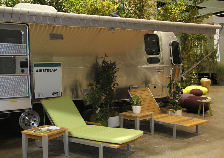 """A line of people waiting to get inside the new Airstream trailer brought by <a href=""""http://www.southwestcoaches.com"""">Southwest Coaches</a> continued all day. The interiors were worth it—modern curves, sleek finishes and plenty of headroom abounded."""