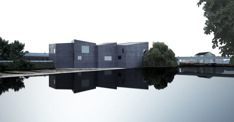 """Image of The Hepworth Wakefield from the <i>David Chipperfield: Form Matters</i> exhibition, on view at the <a href=""""http://designmuseum.org"""">Design Museum</a> through January 31, 2010. Photo courtesy of David Chipperfield Architects and the Design Museum"""