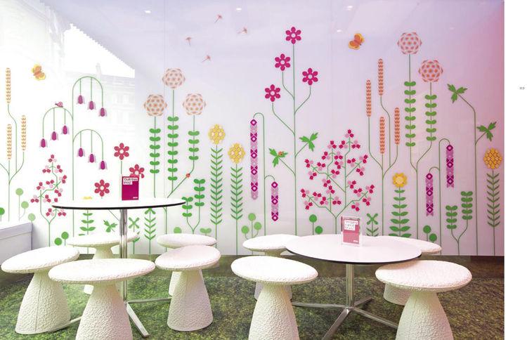 """Spread from <i>Design Taste</i>: <a href=""""http://www.ifancyasnog.com"""">Snog</a> frozen yogurt shop in London, England. Graphic design by Gerard Ivall and Amanda Gaskin."""