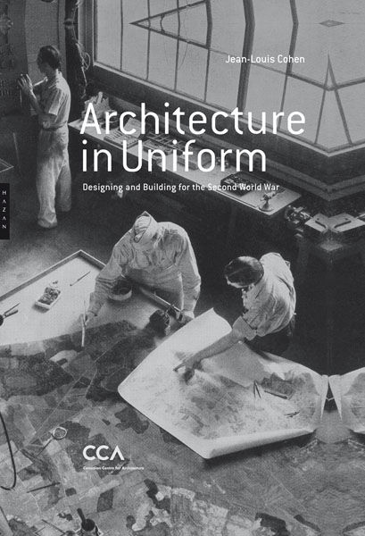In addition to the show, the CCA is also putting out this monograph by curator and NYU history of architecture professor Jean-Louis Cohen. The image shows a team of camouflage artists at work at Fort Belvoir, Virginia. <br /><br />Illustration in Robert P