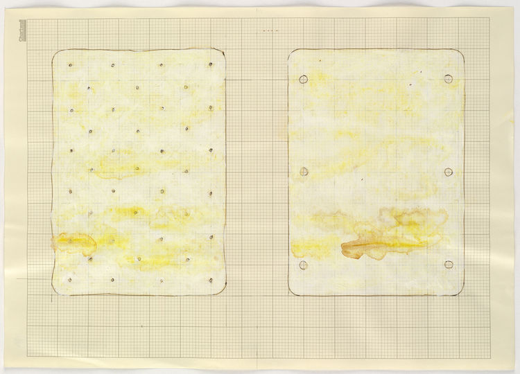 """<i>Untitled (Double Mattress Yellow)</i> by Rachel Whiteread, on display at the <a href=""""http://hammer.ucla.edu"""">Hammer Museum</a> through April 25, 2010. Image courtesy of the Hammer Museum."""