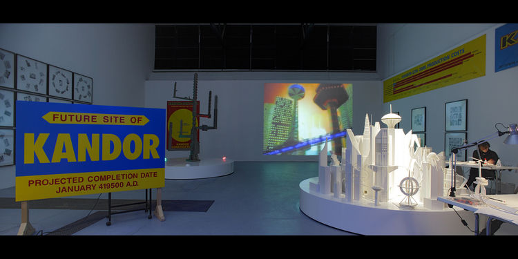 Installation showing <i>Kandor con 2000</i> by Mike Kelley. Photo by Lepkowsky Studio.