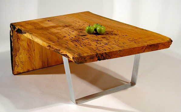 David Stine of Stine Woodworking with be showing his Silver Maple II Coffee Table for the first time at the show.