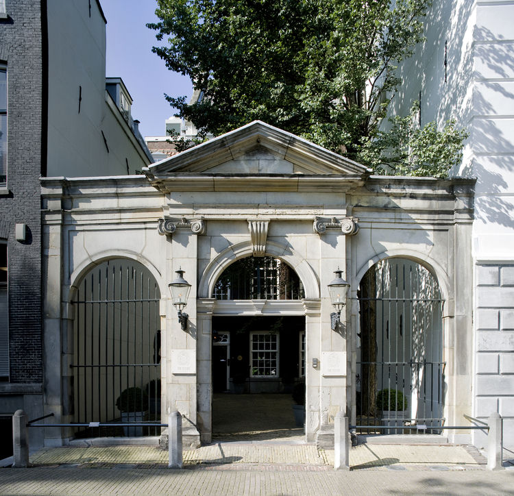 This is the hotel's front entrance, and the property's most historic architectural relic. A stone theater built in 1637 by the architect Jacob van Campen once stood here. It was a famous theater, visited by celebrities and crowned heads of that era. In 17
