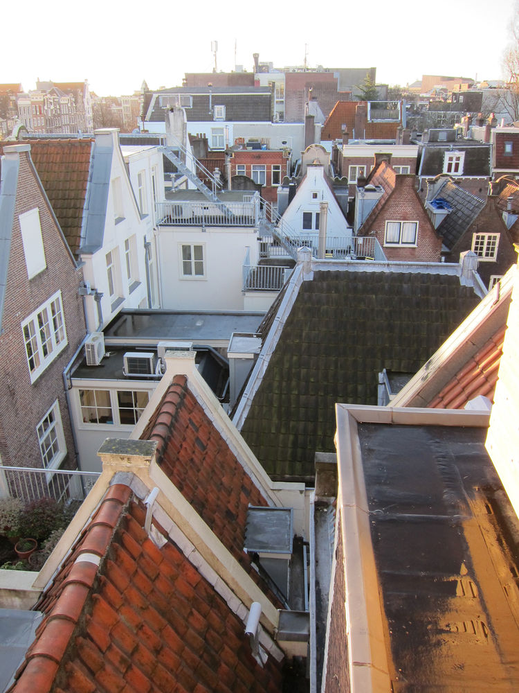 A window in the bathroom overlooked the surrounding neighborhood, each house with a now-familiar roofline. It was a cool experience to be standing in one of those peaked-roof attics, looking out at a sea of similarly historic structures—experiencing local