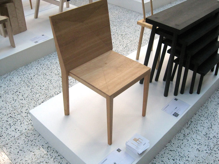 FOLD. FOLD by TERHI TUOMINEN  This elegantly facetted stacking chair is made from locally sourced alder wood joined by wood glue. Its finished using an organic oil that helps to prolong it life and promote a lifetime of use.
