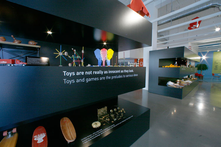 """""""Toys are not really as innocent as they look. Toys and games are the prelude to serious ideas,"""" Charles once said. Random toys accompany the sentiment. """"Their love of toys was completely real,"""" says Demetrios. """"My brother once brought a Super Ball up to"""