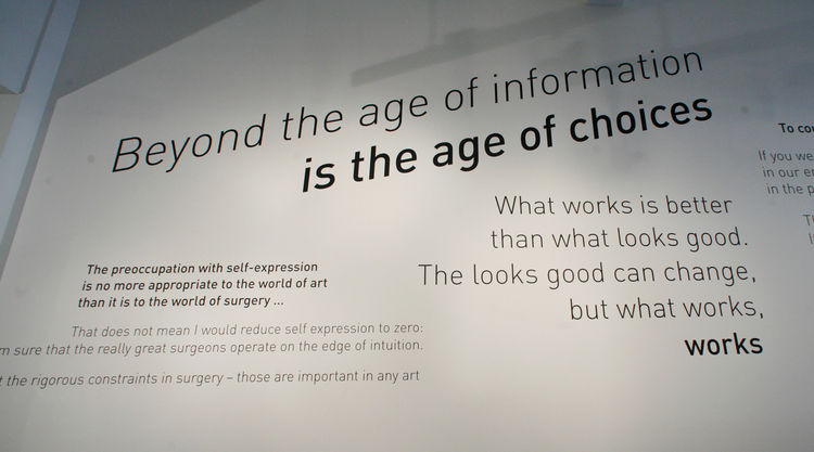 """""""Beyond the age of information is the age of choices."""" Says Demetrios of this quote, """"Charles said this at the Aspen Design Conference in 1971, and that is exactly where we are today. When you think about it, the problem is not information, the problem is"""