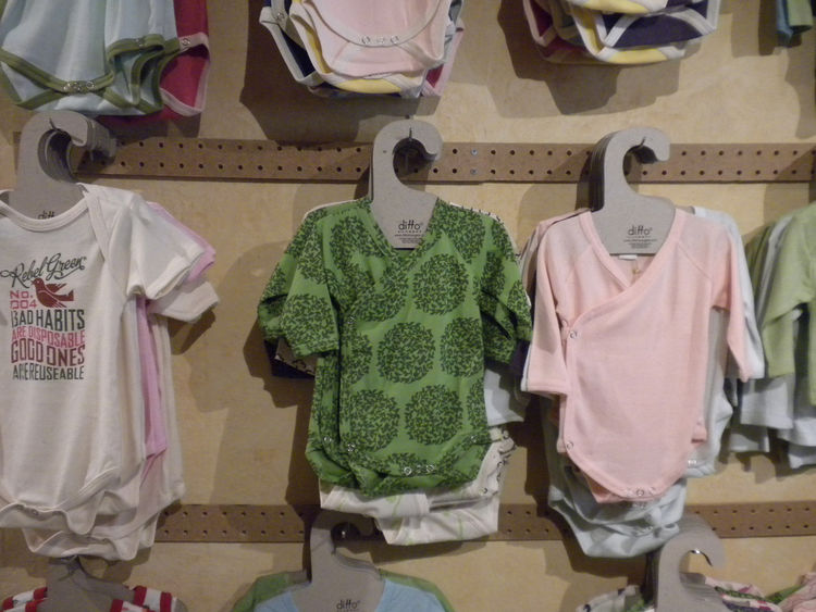 "Tiny humans also get the eco-treatment. ""The baby section started with one little table, because I wasn't sure how well it was going to do since there are other baby boutiques in town,"" Reimers says. ""But I've had so many new moms as customers that there'"