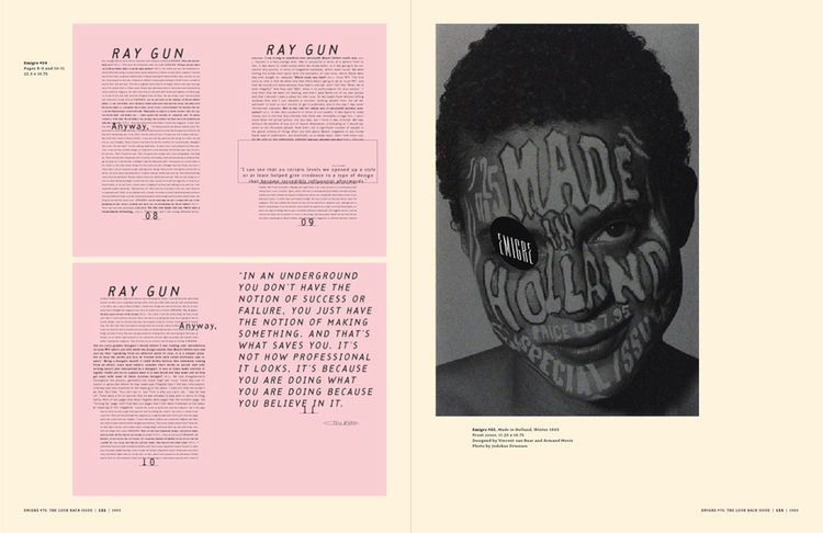 <i>Emigre No. 70</i>, book spread showing images from issue no. 24