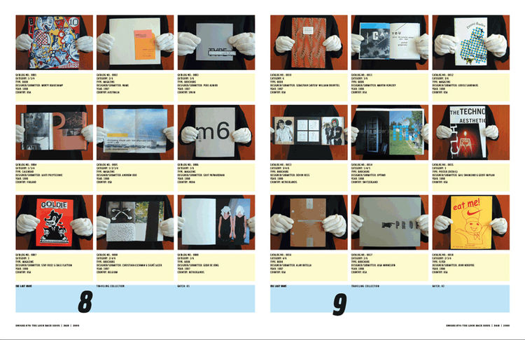 <i>Emigre No. 70</i>, book spread showing images from issue no. 54