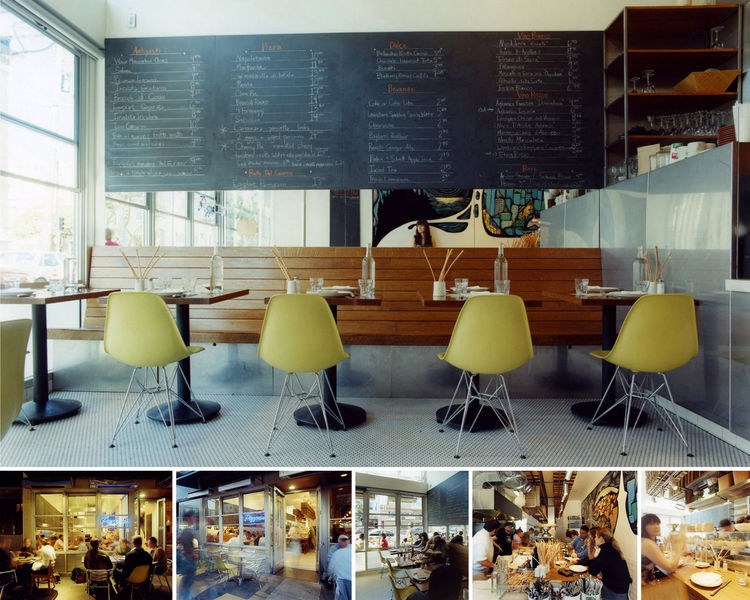 """<a href=""""http://www.envelopead.com/proj_pizzeria18th.html"""">Pizzeria Delfina in San Francisco, California,</a> designed by <a href=""""http://www.envelopead.com"""">Envelope A+D</a>, honorable mention in the <a href=""""http://www.aiasf.org/Programs/Awards_Program/"""