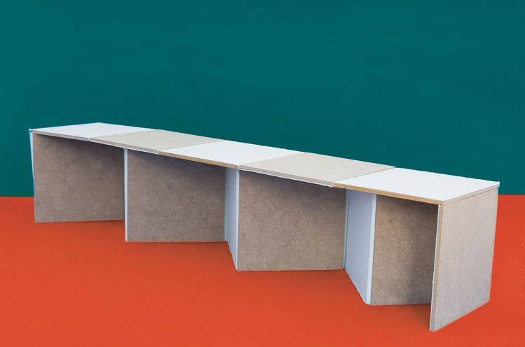 "Expandable Living bench by Knud Brandt and Jens Gustavsson<br><br>""Stockholm is said to be the city with the highest percentage of single person households in the world—many of them are students. As a student, you often have a great circle of friends but"