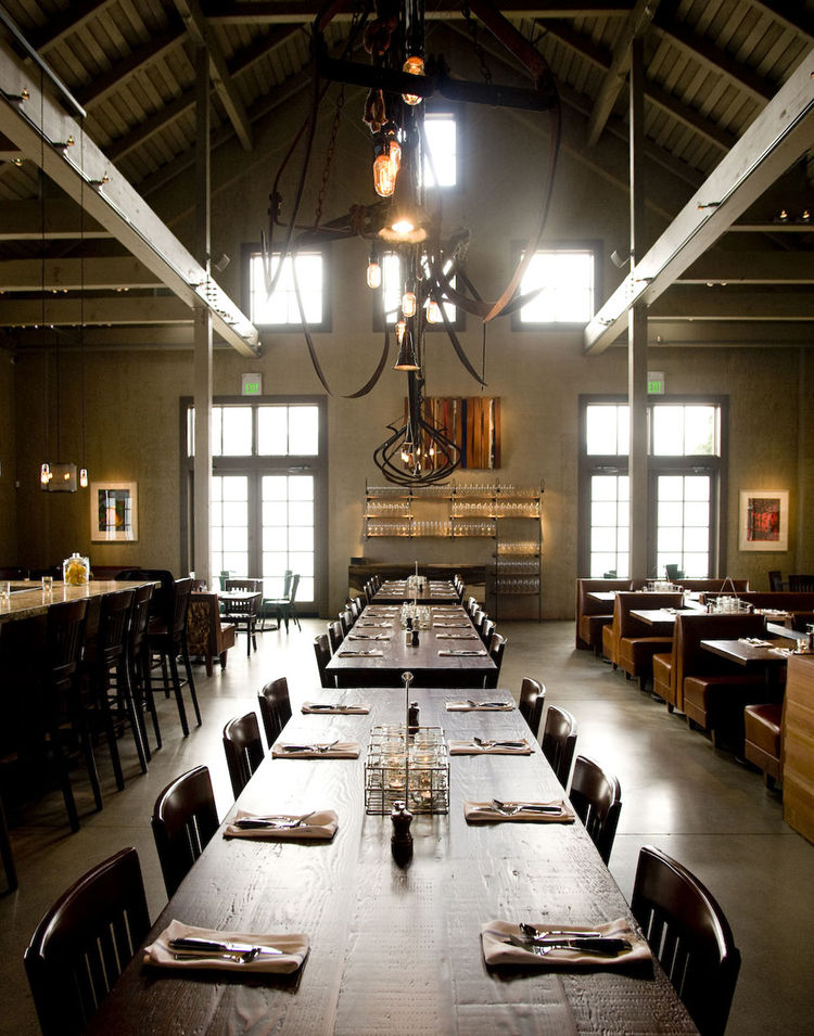 "The location for the new restaurant, which opened in February 2010, was a barn on the ranch that had been used as a plant nursery. ""It wasn't an incredibly old barn,"" Johanson says. ""It was built around the 1970s, but it was built with a very agricultural"