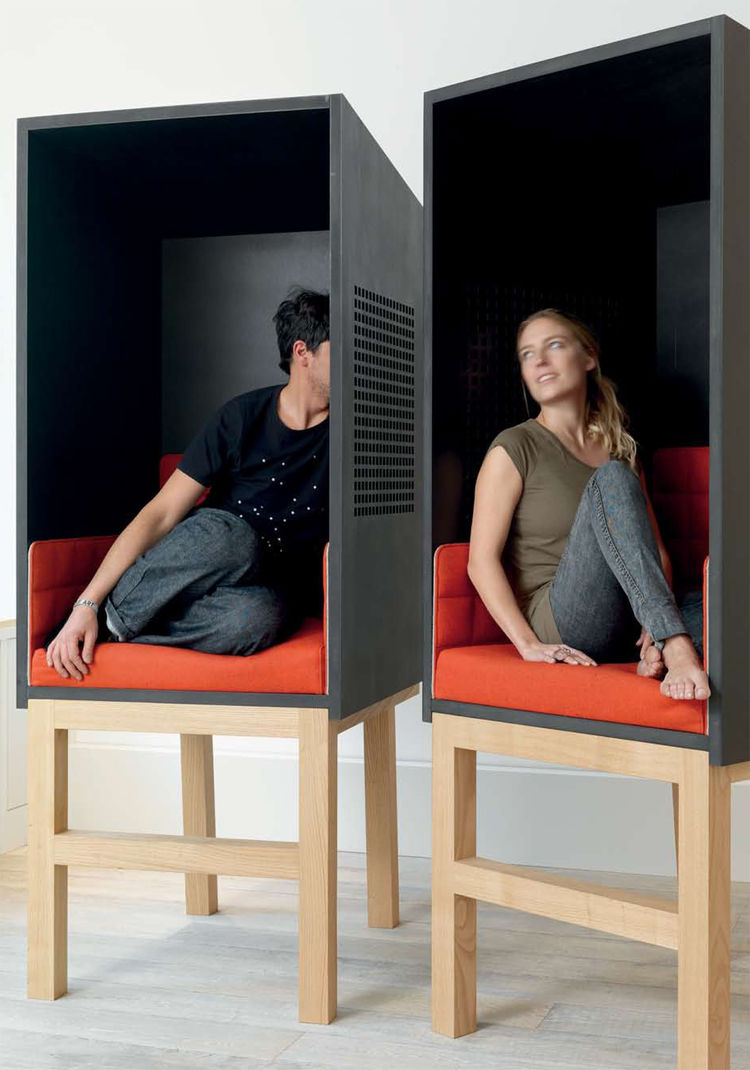 """Confessions (furniture for respite or conversation) by <a href=""""http://www.ariklevy.fr/"""">Arik Levy</a>."""