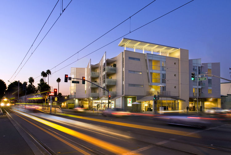 "The <a href=""http://www.usgbc.org/"">U.S. Green Building Council</a>, which created the LEED program, was given the Corporate and Institutional Achievement Award. Shown here is the Gish Apartments in San Jose, California, a LEED Gold-certified project desi"