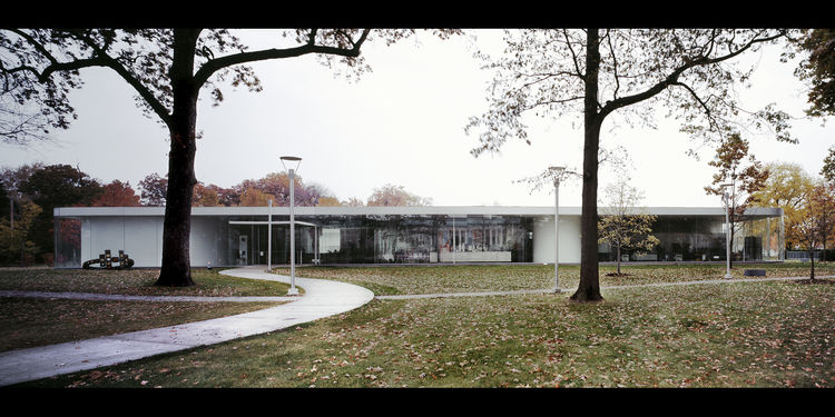 "In 2006, Sanaa's Glass Pavilion opened at the <a href=""http://www.toledomuseum.org/"">Toledo Museum of Art</a>. The first of the firm's work in the United States, the pavilion features 74,000 square feet of gallery space, artist studios, demonstration area"