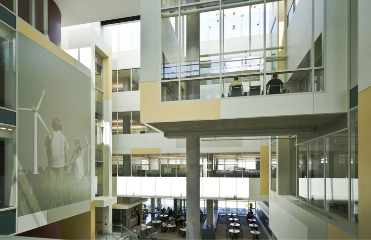 "Great River Energy Headquarters (interior view) in Maple Grove, Minnesota, by <a href=""http://www.perkinswill.com"">Perkins + Will</a>. Photo by Lucie Marusin."
