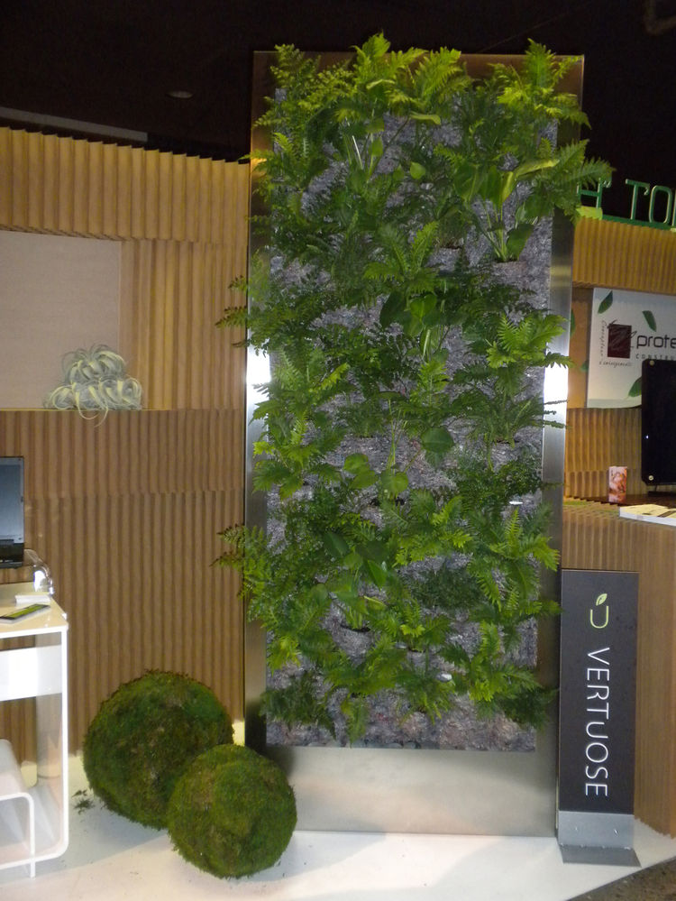 "The entrance to the event was a showcase of sustainable design. Among the exhibitors was Green Wall by <a href=""http://www.vertuose.com/"">Vertuose</a>, a Montreal-based company. The structure, which can be custom designed for any space and house living or"