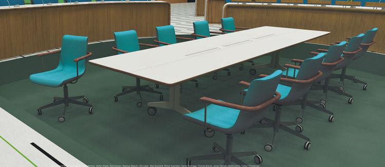 "Designer <a href=""http://www.hans-sandgren-jakobsen.com/forside_2/"">Hans Sandgren Jakobsen</a>'s chair design also had an <a href=""http://www.fritzhansen.com/en/fritz-hansen/products.aspx#/chairs/oxford/3291/13/?i=i"">Oxford</a>-like look to it."