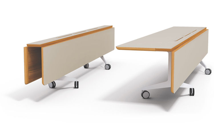 """Jackobsen's proposed table folds down to a slim profile for storage, though it could also easily act as long console in a pinch.<br /><br /><p><em><strong>Don't miss a word of Dwell! Download our </strong></em><a href=""""http://itunes.apple.com/us/app/dwell"""